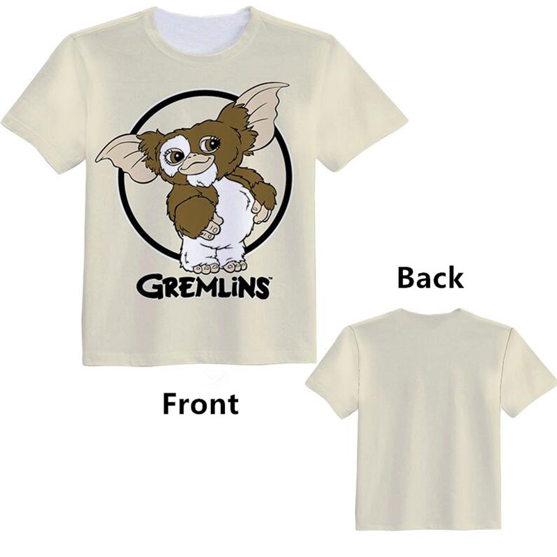 Anime Movie Gizmo Gremlins Woman Man Cartoon Lovely Printing Custom Made T-shirt Tees Christmas Gift Fancy Fashion Cool