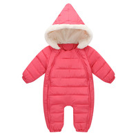 18M 3T Baby Clothing Rompers Solid Colors Infant Thickening Keep Warm Romper Baby Boy Clothes Winter