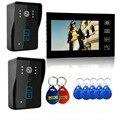 Freeshipping 2.4G Wireless Video Door Phone Intercom Doorbell 7 Inch LCD Home Security  touch keypad door intercom