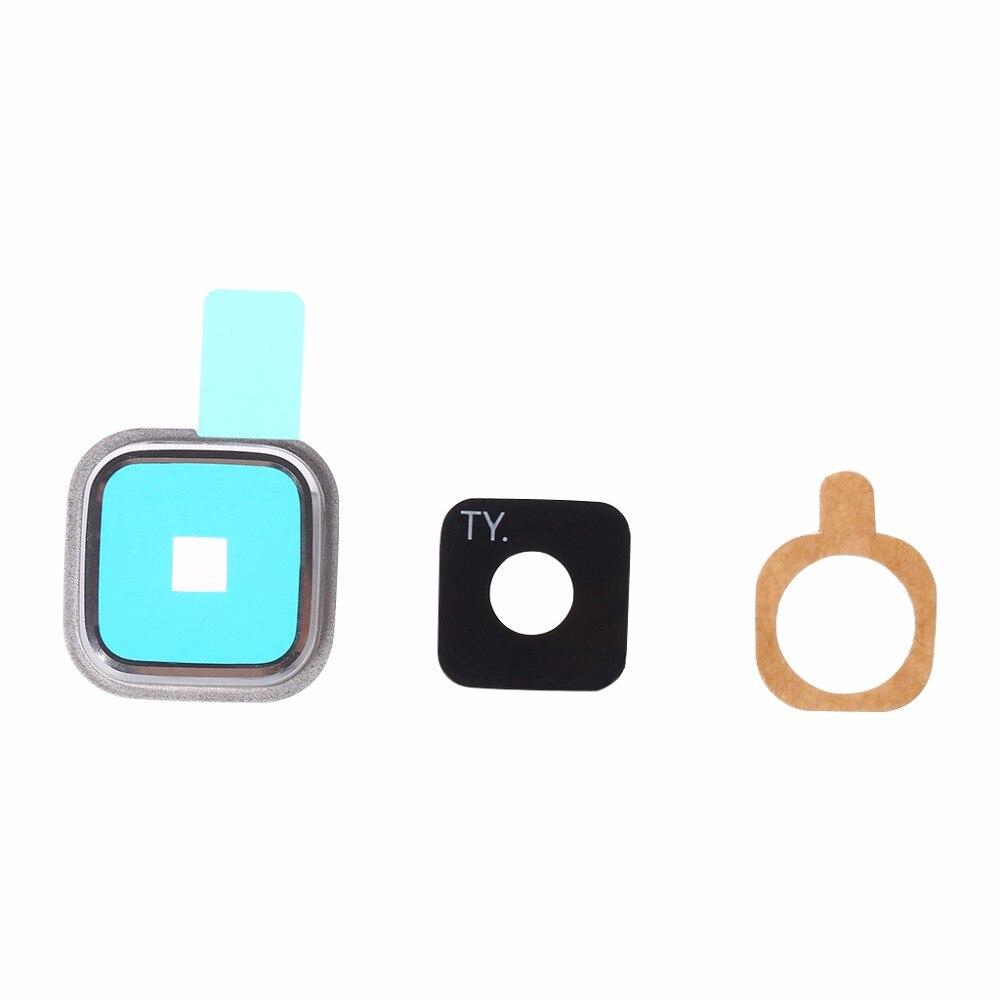 UnermüDlich 1 Set Hinten Kamera Objektiv Glas Abdeckung + Metallrahmen + Aufkleber Für Samsung Galaxy S5