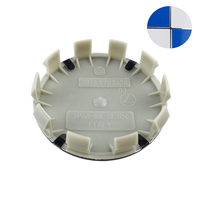 20Pcs Lot 68mm 10 Pins Blue White Car Wheel Center Hub Caps Cover Logo Emblem Badge