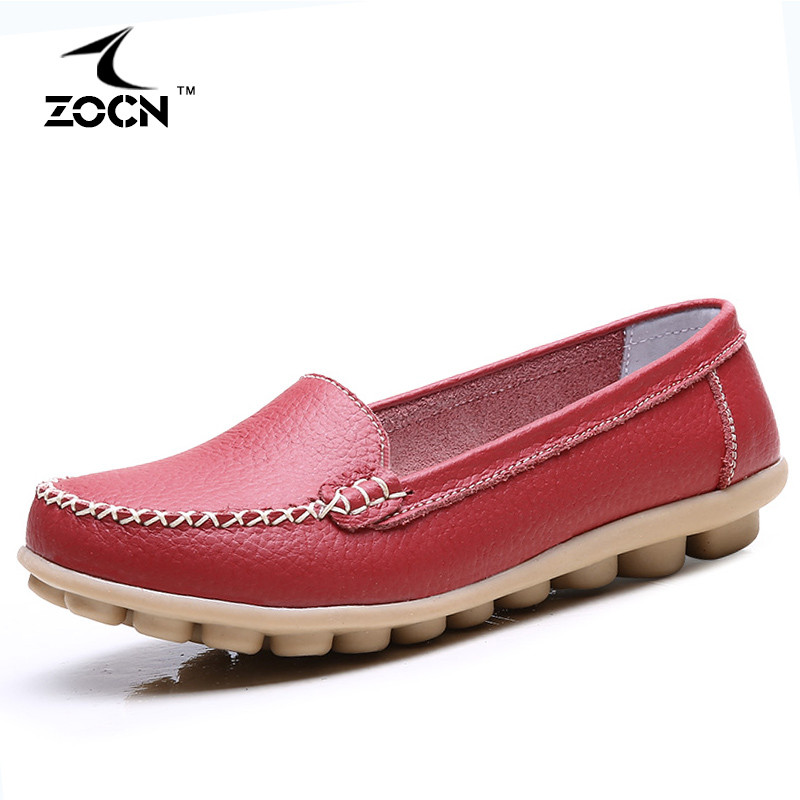 5 colours loafers flats shoes cow split leather