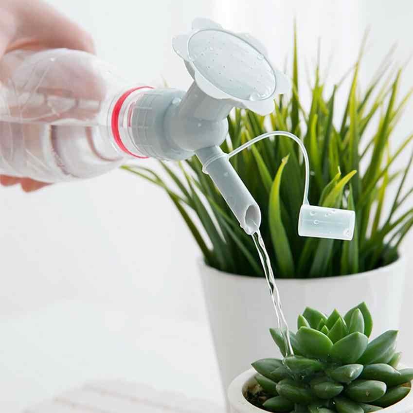 2 In 1 Plastic Sprinkler Nozzle Voor Bloem Waterers Fles Gieters Sprinkler Douchekop Tuin Tool voor open van flessen