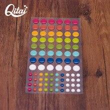 6pcs/lotscrapbooking stickers Sugar Sprinkles Self- adhesive Enamel Resin Sticker Scrapbooking/ DIY Crafts Making Decoration