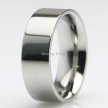Wholesale 3MM to 8MM Wide Titanium Steel Comfort Fit Plain Classy Wedding Band Ring Size 5-15 Comes With Free Gift Velvet Bag(China)