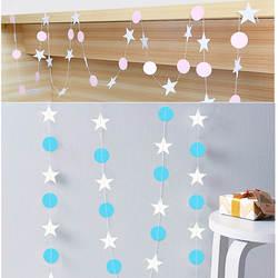 4 м бумага Гарланд Звезда Круглый форма строка баннеры Красочные Подвесные буквы Бумага День рождения Свадебная вечеринка украшения дома