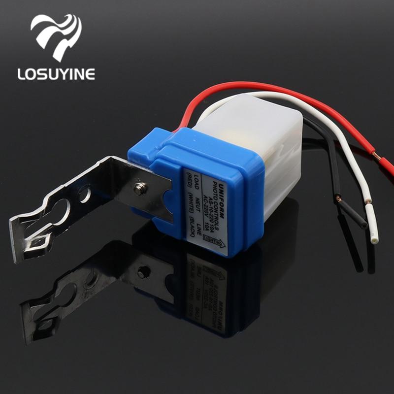 цена на Automatic Auto On Off Photocell street Light Switch DC AC 220V 50-60Hz 10A Photo Control Photoswitch Sensor Switch