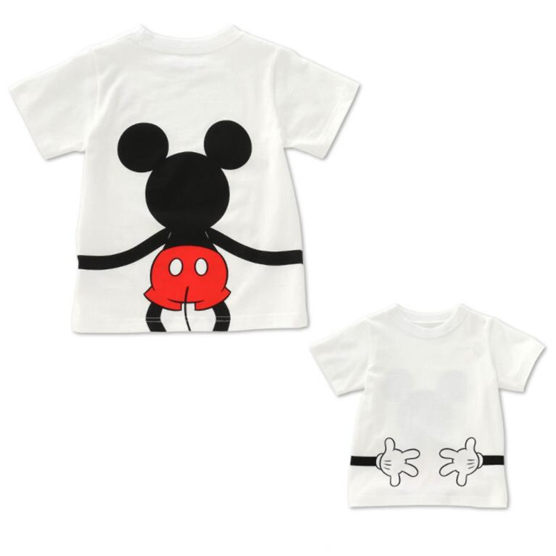 100% Cotton Mommy and Me Cute T-shirt High Quality Mother Father Boys Girls Mickey Minnie Mouse Top for Family Matching Clothes