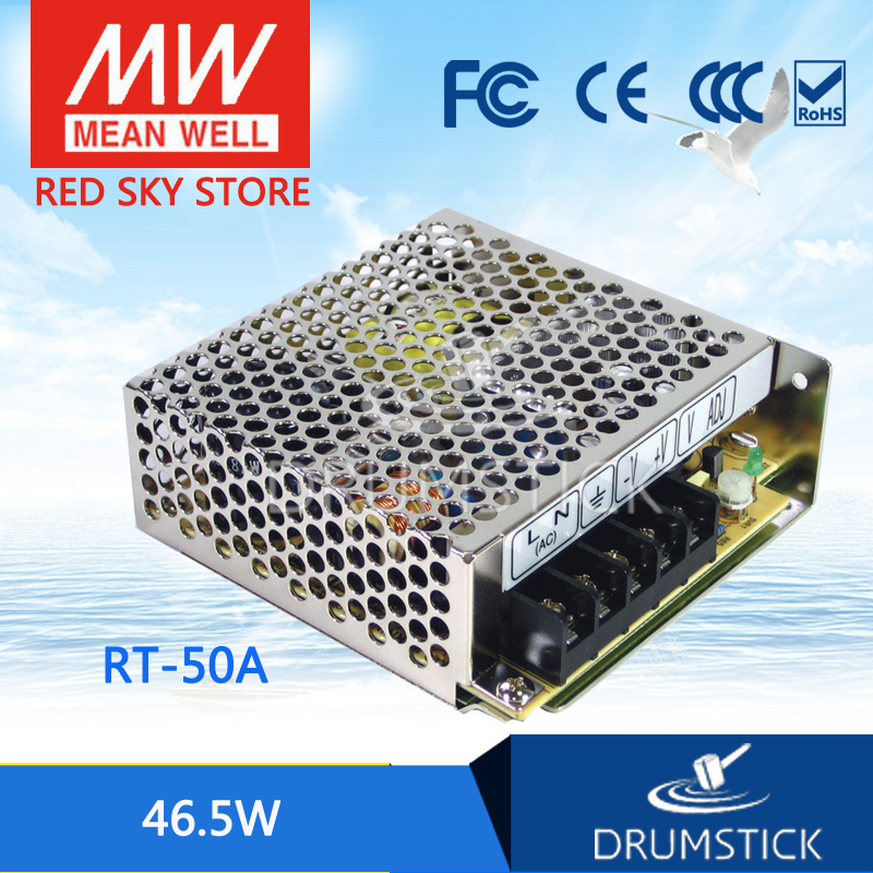 цена на Selling Hot MEAN WELL RT-50A meanwell RT-50 46.5W Triple Output Switching Power Supply