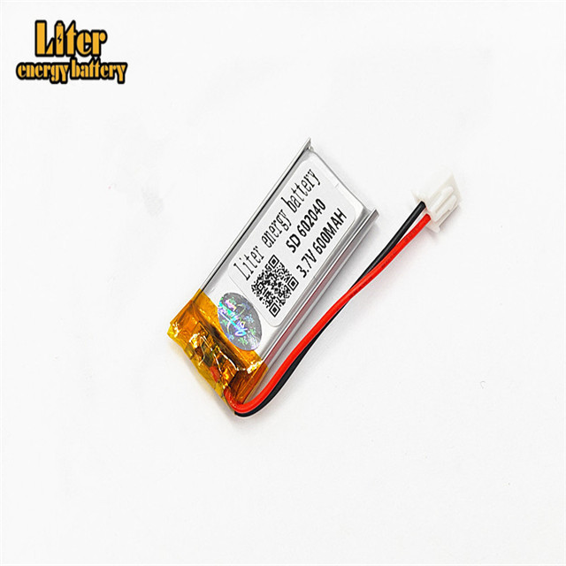 XHR-2P 2.54 <font><b>600mAh</b></font> 602040 <font><b>3.7V</b></font> lithium polymer battery MP3 point reading pen scan code instrument intelligent instrument image