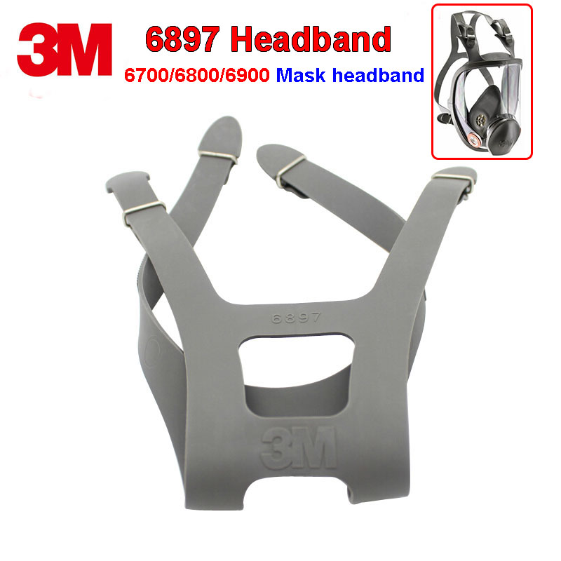 3M 6897 Headband 6700/6800/6900 respirator mask replace Strap Four fixed firm durable rubber Headband