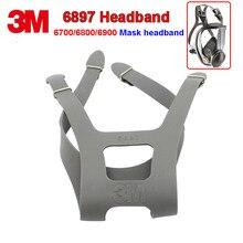 3M 6897 Hoofdband 6700/6800/6900 Ademhalingsapparaatmasker Vervangen Band Vier Vaste Firm Duurzaam Rubber Hoofdband