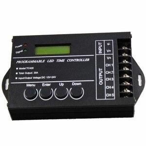 Image 4 - TC420 TC421 TC423 светодиодный контроллер времени Wi Fi 12 В/24 В постоянного тока, 5 каналов, общая выходная мощность 20 А, общий анод светодиодный светодиодных фонарей