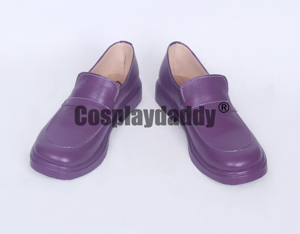 No Game No Life Shiro Daily Purple Cosplay Shoes S008