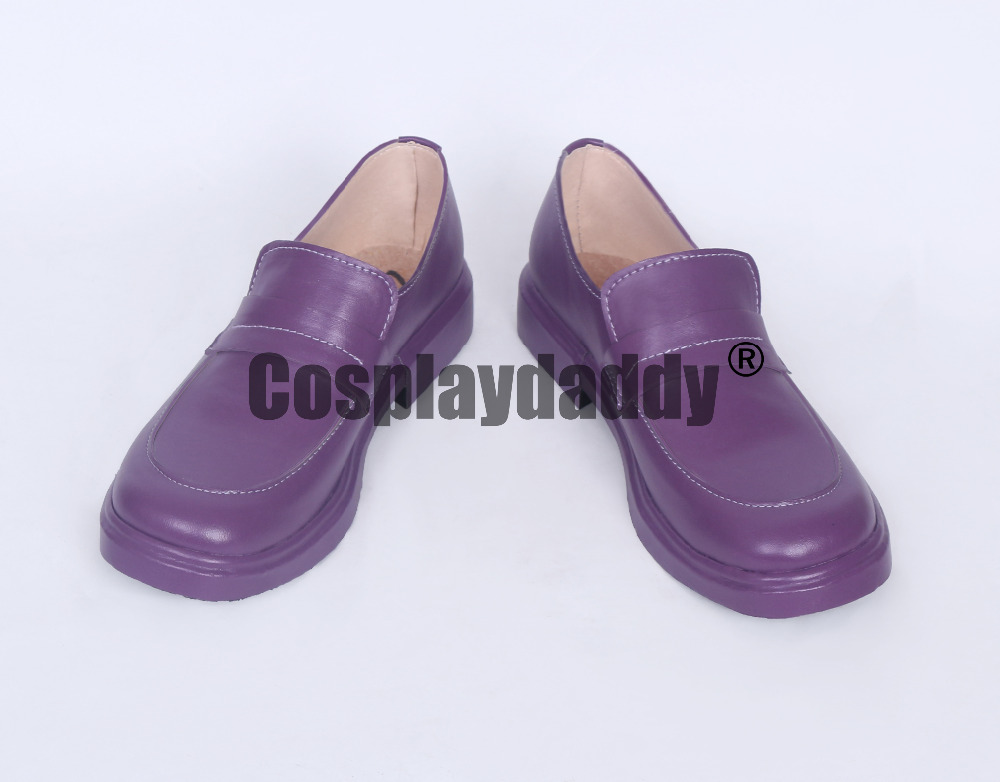 No Game No Life Shiro Daily Purple Cosplay Shoes S008