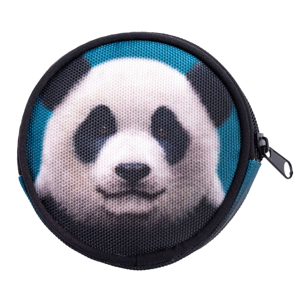 Circular Animal Printing Coins Change Purse Cute Girl Bag Clutch zipper Coin Wallet Key Bags monedero kawaii*00