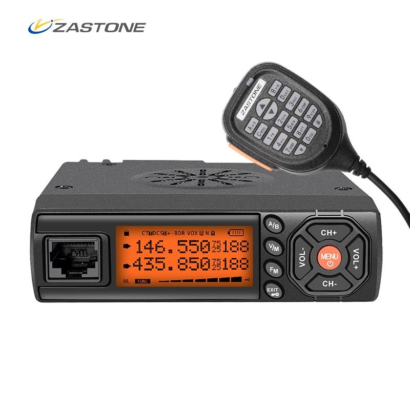 Zastone Z218 Mini Car Walkie Talkie 10km 25W Dual Band VHF/UHF 136 174mhz 400 470mhz 128CH Mini Mobile Radio Station Transceiver