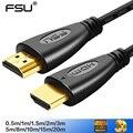 FSU cables de video Cable HDMI 1,4 chapado en oro 1080 p 3D Cable para HDTV del divisor del conmutador 0,5 M 1 m 1,5 m 2 m 3 M 5 m 10 m 12 m 15 M 20 m