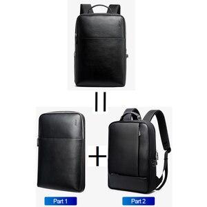 Image 3 - Bopai mochilas de viagem couro casual com 15.6 polegada portátil mochila 2 em 1 multifuncional uso diário saco viagem usb carga