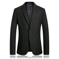 High Quality Men Wool Blazer Hombre 2018 Autumn Winter Suit Jacket Men British Business Casual Slim Fit Blazers For Men Partys