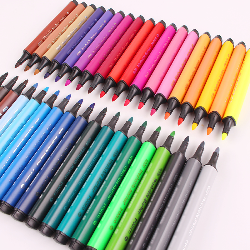 24-36 Colors Marco Triangle Rod Water Color Brush Pen Children Painting Washable Drawing Set Pen School Stationery
