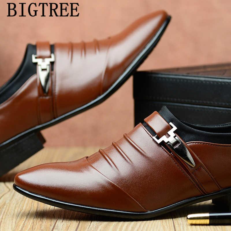 イタリアファッションエレガントなオックスフォードメンズ靴大サイズメンズフォーマルな靴革男性ドレスローファー man スリップ masculino