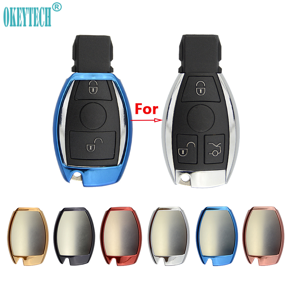 OkeyTech Car Styling Soft TPU Auto Key Cover Case Shell Protective Key Bag for Mercedes Benz CLS CLA GL R SLK AMG A B