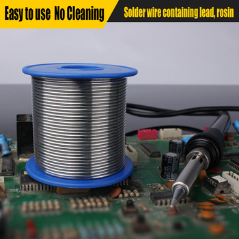 Tin Lead Solder Wire Rosin Core 0.8/1.0mm 500g With Flux in Wire Melt Rosin Core Low Temperature Solder new tin lead rosin core solder wire 0 3mm 0 4mm 0 5mm 0 6mm 0 8mm 1 0mm 2