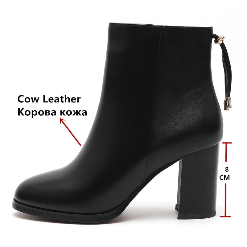 Court 3 Moto cow Chaussures Cow Bottes Fedonas Leather Suede cow Véritable En cow Cuir Mode 2 Talons Cheville Nouvelle À Arrivée De Glands Hauts 3 1 Femmes Femme 7xagpT