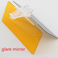 wholesale car sunshade anti dazzle mirror tempered glass, acrylic Hottest 2 in 1 Car Day and Night gl-are mirror polarizer lens