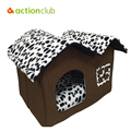 Actionclub Dog House New 2016 PP Cotton Folding Dog Bed For Large Dog House With Mat Pets Product Cats House 2016 New Style