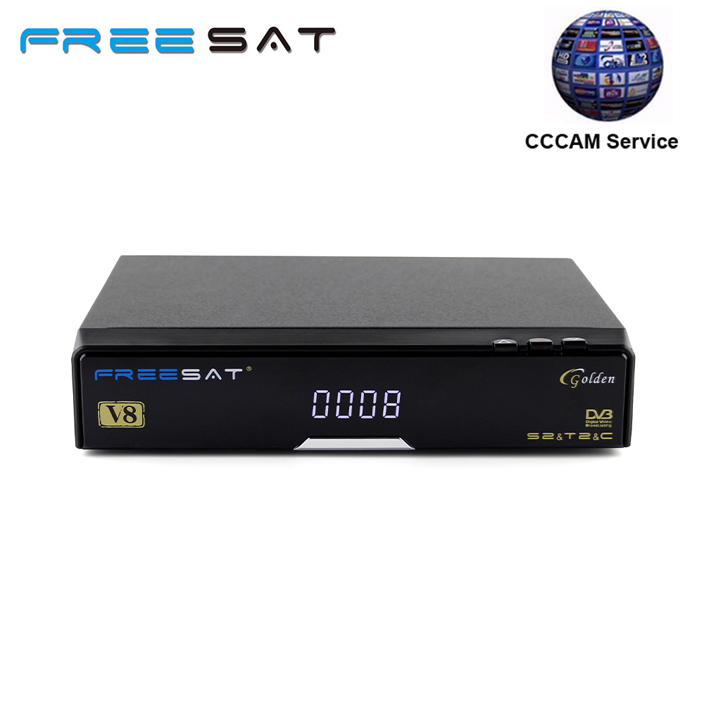 Freesat V8 Golden COMBO IPTV Satellite Receiver with one 1 year Europe cccam clines serv ...