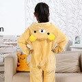Fotografia Roupas Das Meninas Dos Meninos Do Presente Do Partido Do Miúdo Pijamas Pijamas de Flanela Criança Com Capuz Pijamas Pijamas Animal Dos Desenhos Animados Urso Cosplay