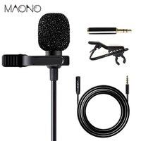 MAONO петличный микрофон с 6 м удлинитель конденсаторный микрофон Handsfree Clip-on для iPhone Android смартфон DSLR Cam
