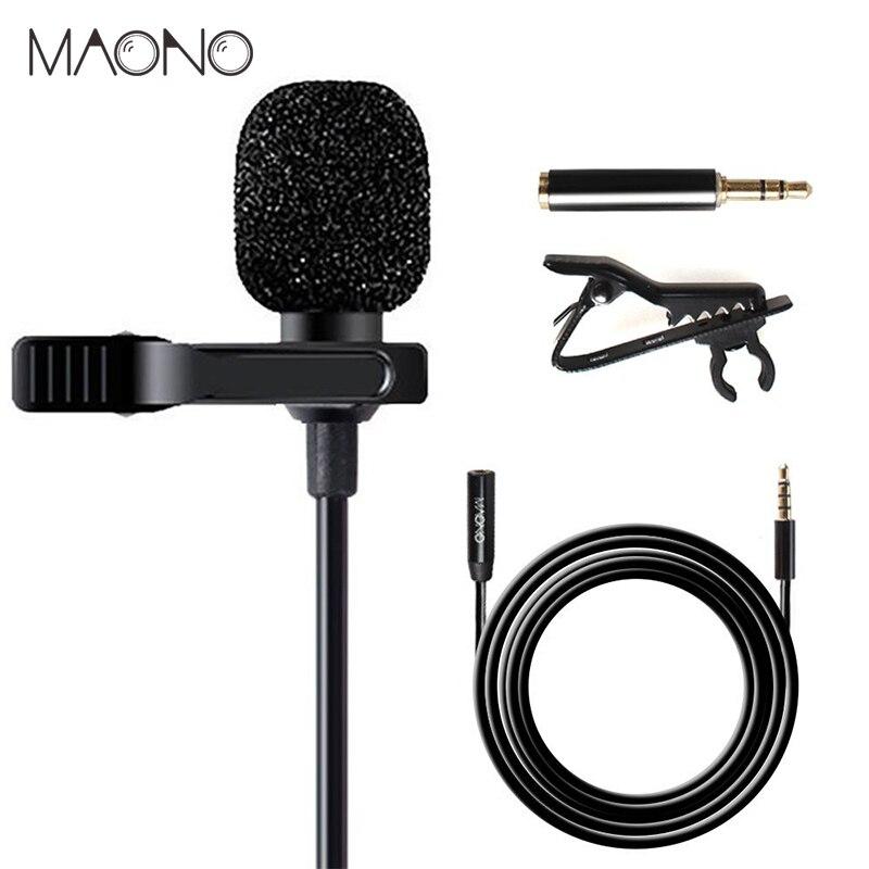 MAONO Lavalier-mikrofon mit 6 mt Verlängerung Kabel Kondensator Mikrofon Freisprecheinrichtung Clip-auf für iPhone Android Smartphone DSLR Cam