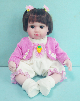 "40cm vinyl  Silicone Reborn Dolls 16""violet/pink/yellow real touch princess baby bonecas Kid birthday gift Playmate bb reborn"