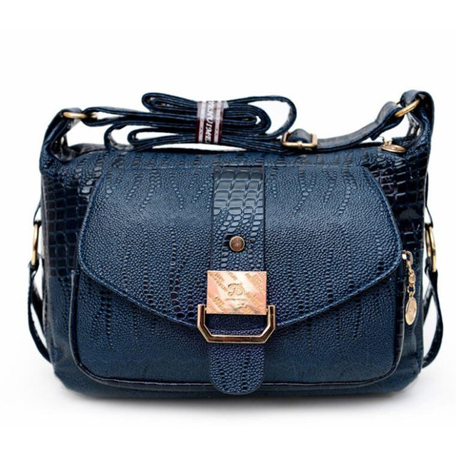 d58d74d643d7 Louis brand casual shoulder bags women small messenger bags ladies retro  design Crocodile pattern female crossbody bag bolsas
