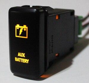 AUX батарея кнопочный переключатель оранжевый светодиод для Toyota Landcruiser Hilux FJ Cruiser ON OFF переключатель с проводом 12 вольт 3Amp