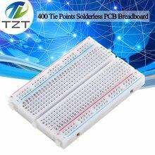 400 Tie Points Solderless Pcb Breadboard Mini Universele Test Protoboard Diy Brood Board Bus Test Circuit Board Voor Arduino