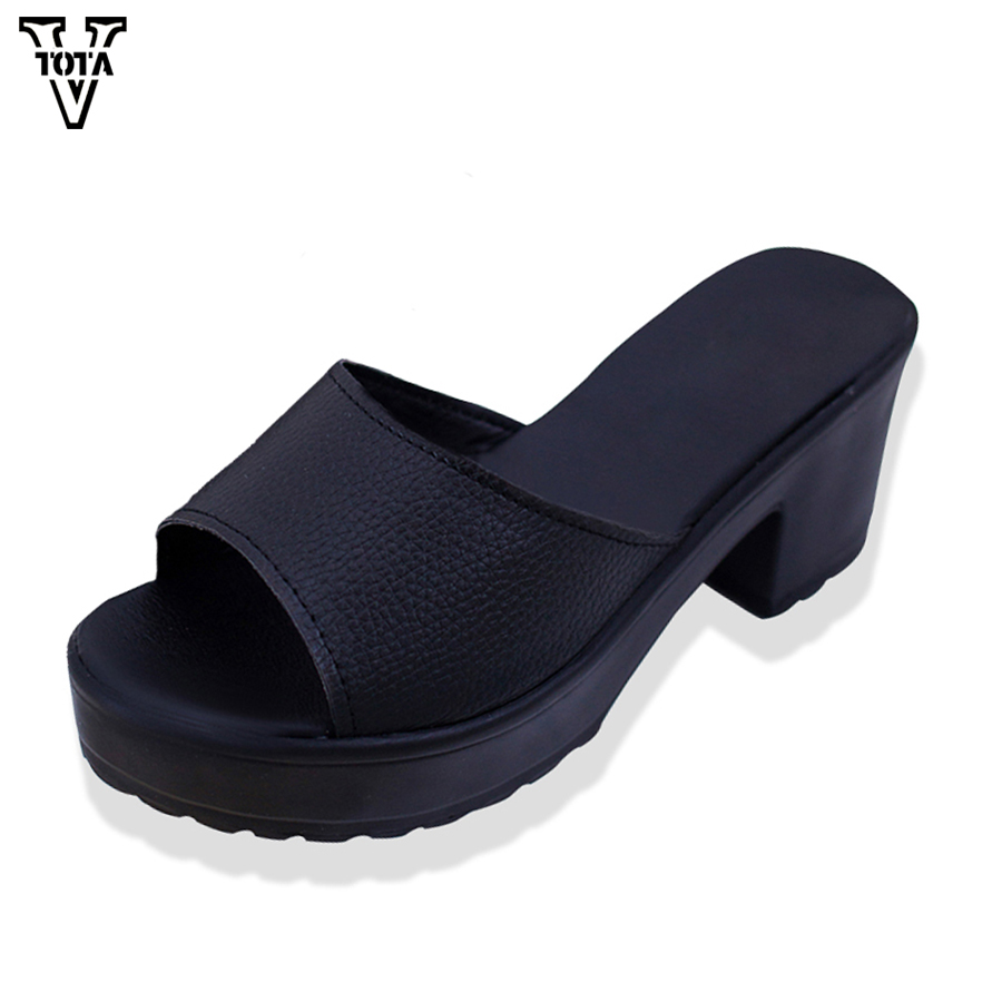 2017 New shoes woman Brand flip flops women Summer Shoes Leather Soft slippers Womens Shoes Platform sandals Ladies Wedges X204 phyanic 2017 gladiator sandals gold silver shoes woman summer platform wedges glitters creepers casual women shoes phy3323