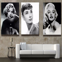 Canvas HD Print Painting Modular Pictures Home Decor 3 Panel Sexy Marilyn Monroe Framework Wall Art