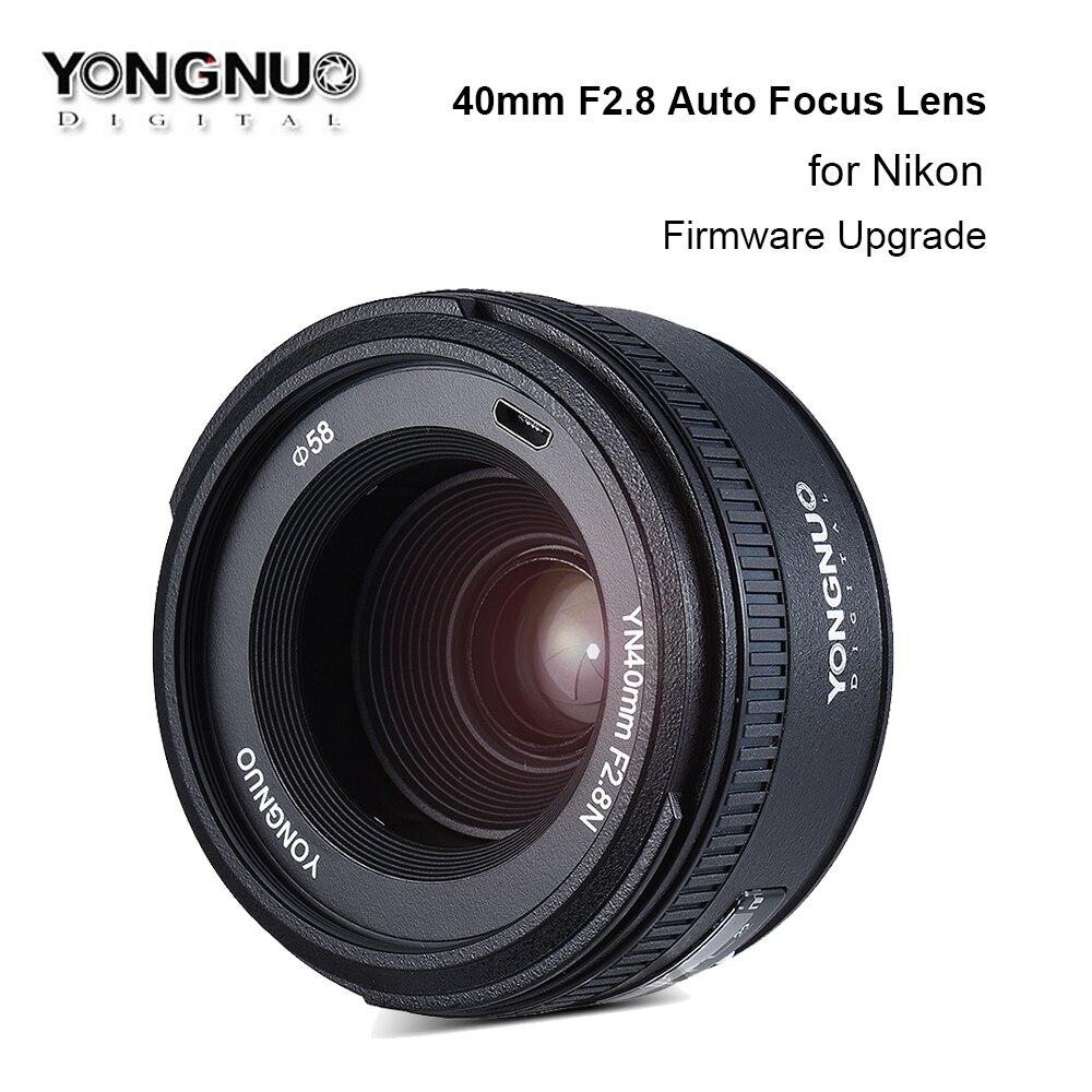 US $109 0 |Yongnuo YN40MM F2 8N 40mm F2 8 Lens Large Aperture AF/MF Auto  Focus Fixed Lens for Nikon DSLR Camera D800 D700 D5200 D7200 D3200-in  Camera