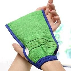 Горячая продажа 1 шт случайный цвет Душ Спа-отшелушиватель двухсторонняя перчатка для ванны очищающий скраб для тела рукавица для удаления ...