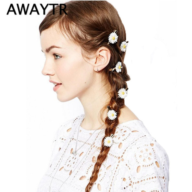 2017 Hairpins Girls Hair Accessories 2 Pieces/Lot Cute Novelty Sunflower Headband Hair Rope Barrettes Headwear Free Shipping