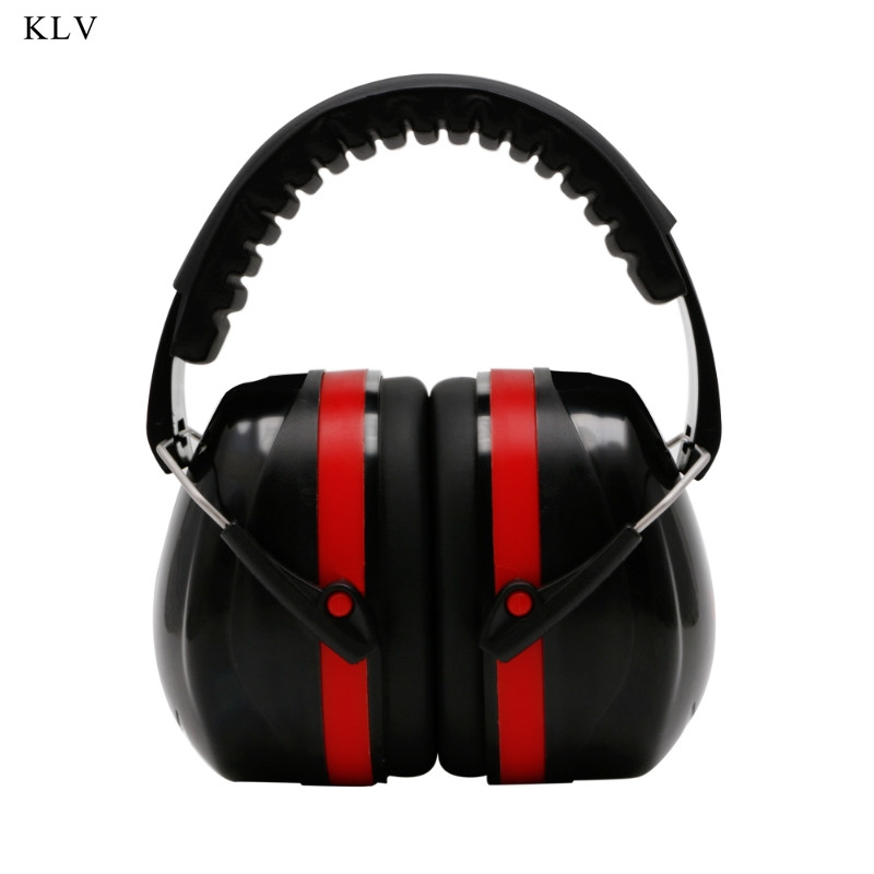 KLV Noise Reduction Cancelling Folding Adjustable Headband Earmuffs Hearing Protection Safety Over-Ear Muffs Sound Insulation