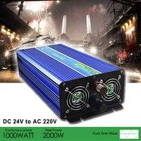 2000 Вт DC 12 В к AC 220 В автомобильный инвертор Чистая синусоида Инвертор Зарядное устройство адаптер для мобильного телефона MP5 плеер автомобил