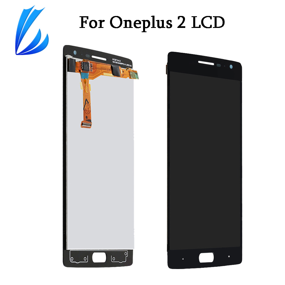 LL TRADER AAA LCD Display Panel For <font><b>Oneplus</b></font> two <font><b>2</b></font> Touch <font><b>Screen</b></font> <font><b>Replacement</b></font> Sensor For 1+ One plus <font><b>2</b></font> LCD Digitizer Assembly+Tools image