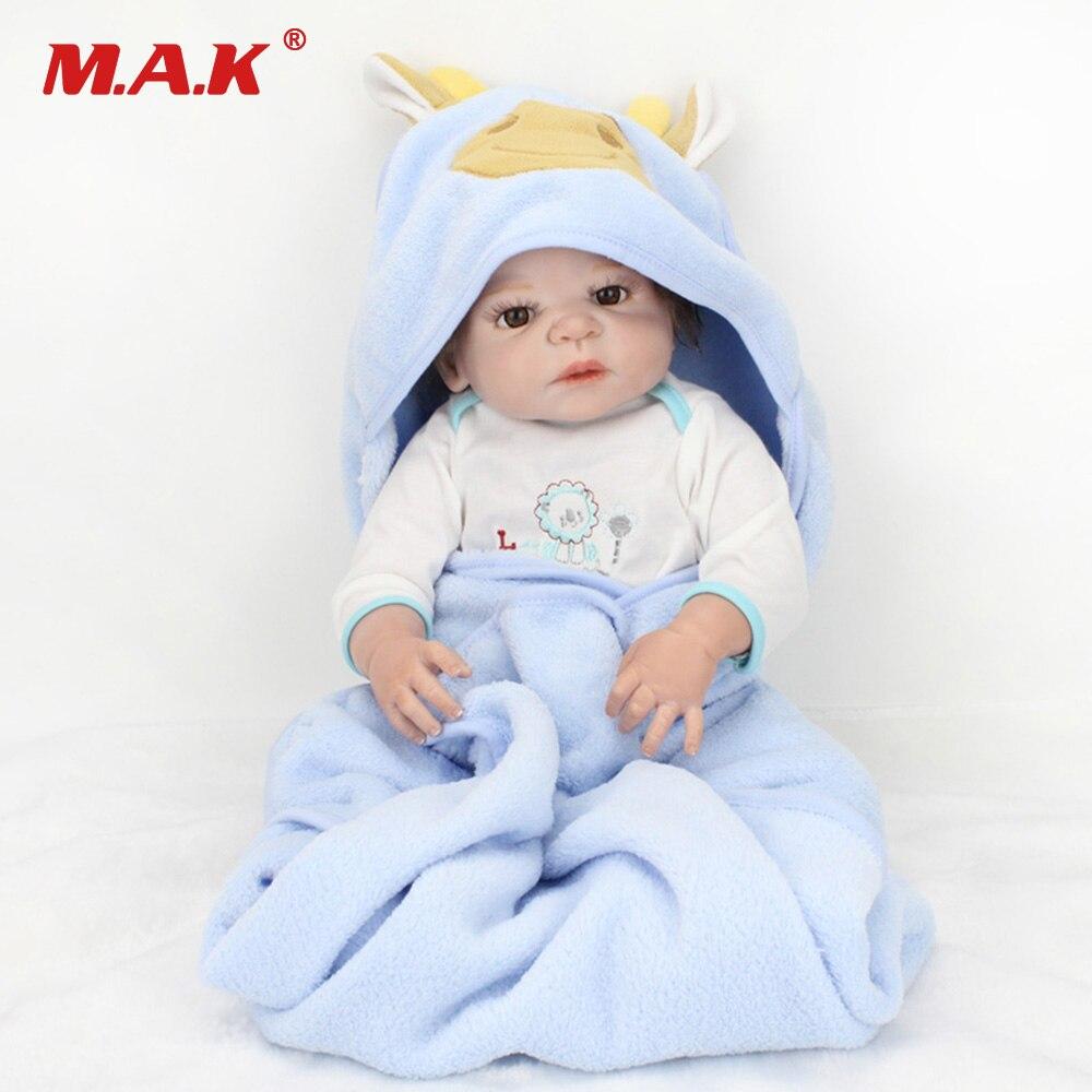 22 pouces 55 cm américain garçon corps entier Silicone bébé Reborn Bebe poupée nouveau-né alimentation bébé jouets modèle cadeau pour enfants