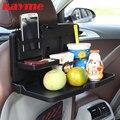 Kayme coche plegable sostenedor de la bebida del asiento trasero portavasos de plástico para auto bebida taza del alimento bandeja de mesa de comedor coche de pie escritorio