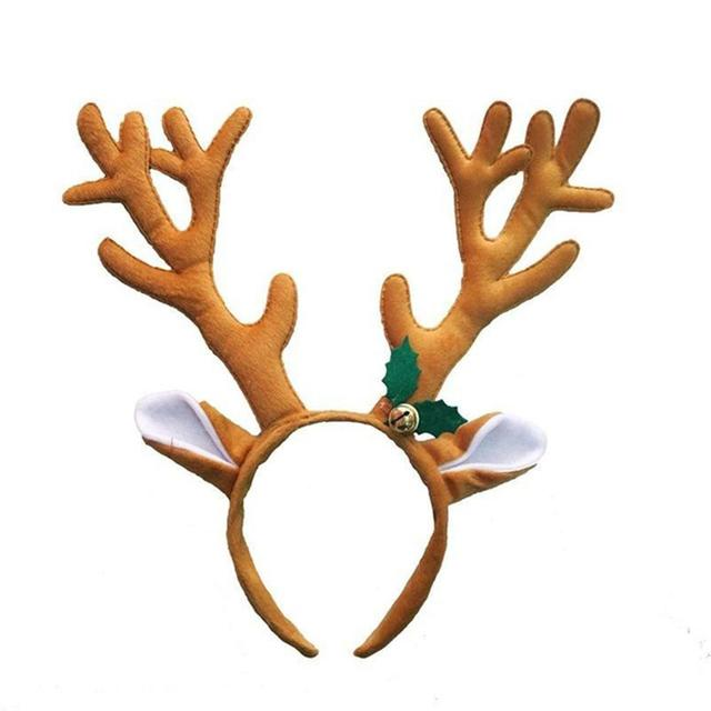 a65263aed36d0 Reindeer Antler Hair Hoop Christmas Kids Headband Headwear with Bell Party  Hair Band Head Band Christmas Costumes Accessory
